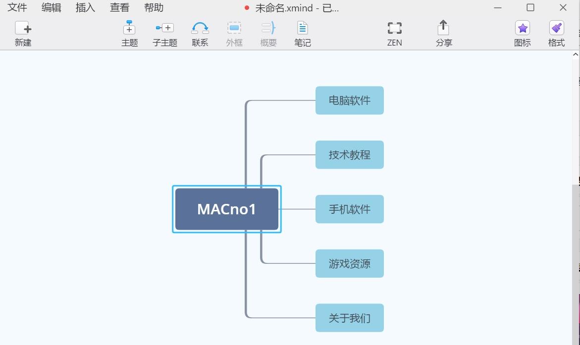 XMind ZEN v9.1.3 中文破解版-专业的高效思维导图软件