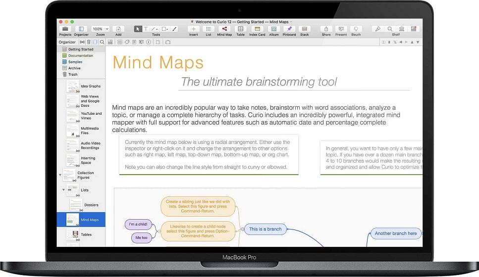 Curio Professional for Mac 12.2 破解版-笔记和思维导图应用