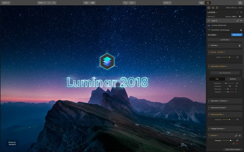 Luminar for Mac 3.1.0 破解版(附激活码)—后期照片编辑工具
