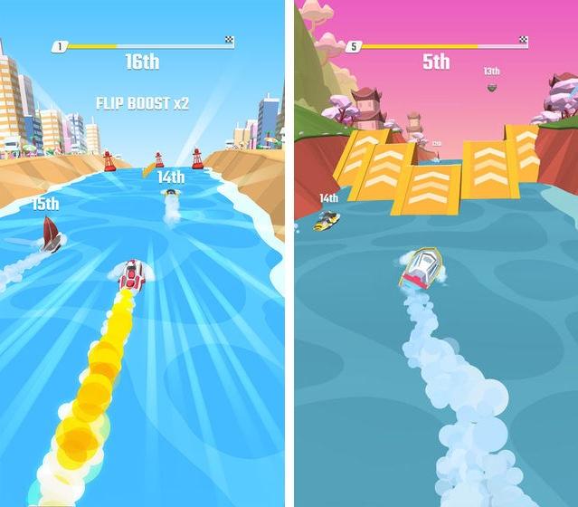 Flippy Race 安卓免费版 v1.3.0 去广告版—摩托艇翻转竞速游戏