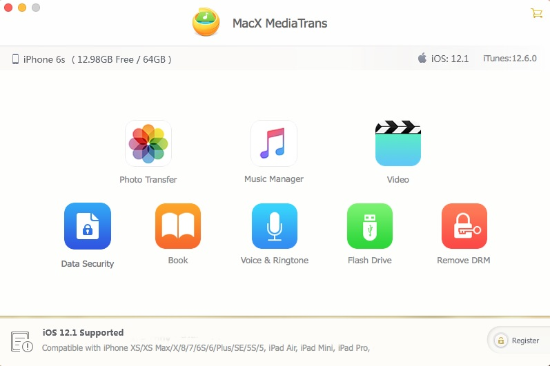 MacX MediaTrans破解版|MediaTrans for mac 6.6.2 内置激活版—iOS媒体管理软件