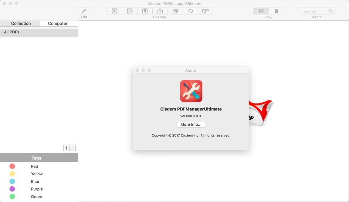 PDF编辑管理软件 Cisdem PDF Manager for mac 3.2.0 直装破解版