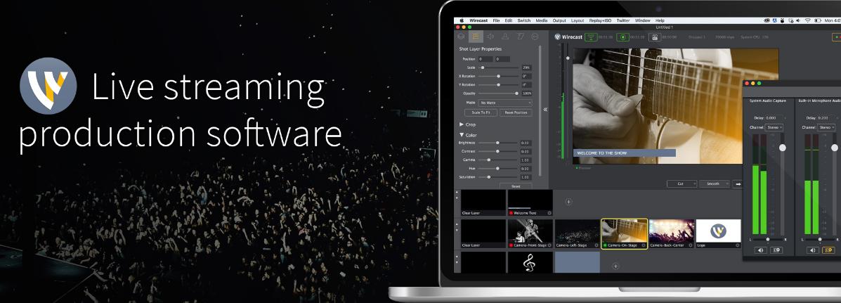 直播视频软件 Wirecast破解版|Wirecast for mac 13.0.2 直装破解版(免激活码)