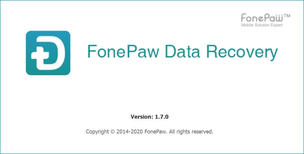 数据恢复软件 FonePaw Data Recovery 1.7.0 绿色中文破解版(免激活码)