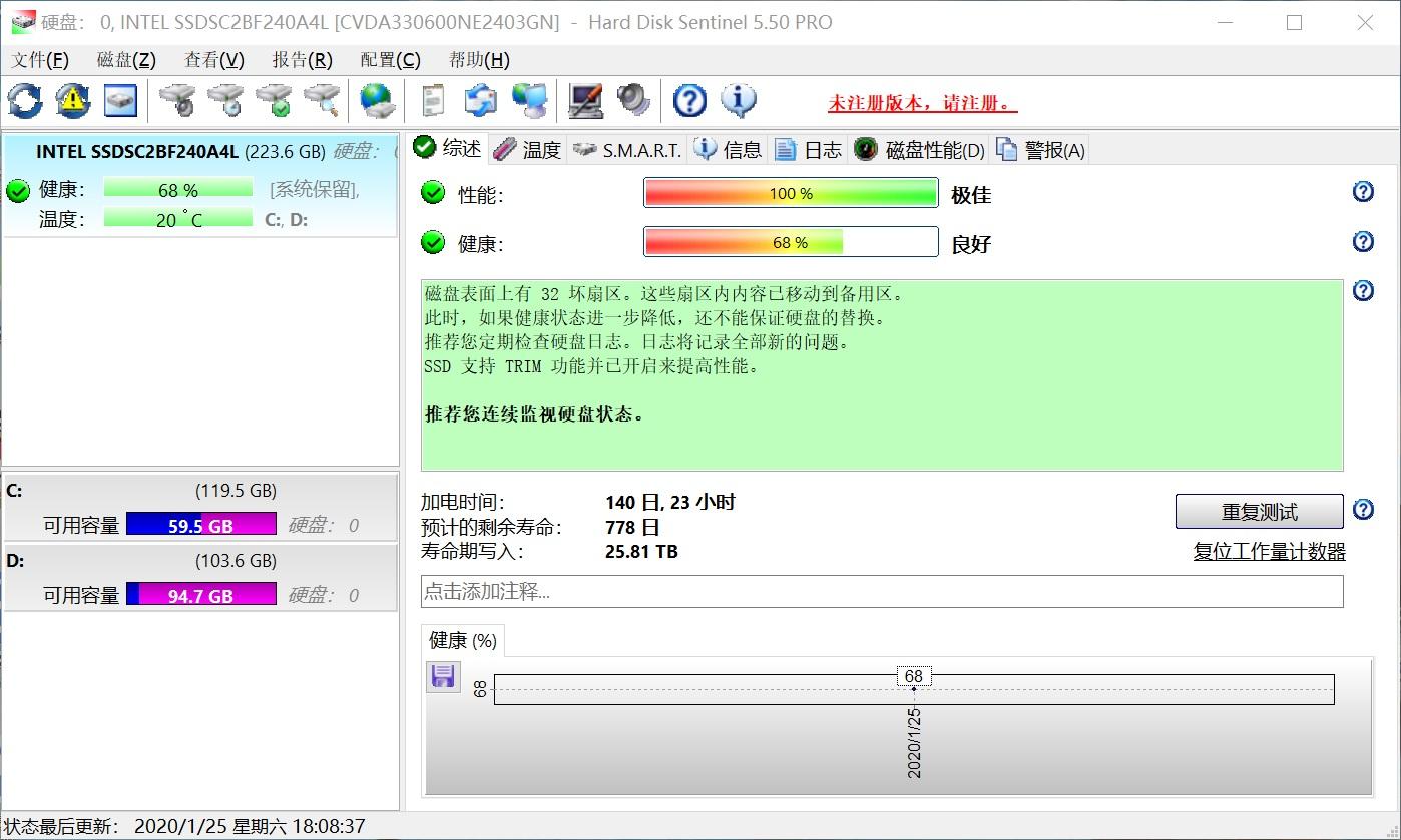 硬盘哨兵 Hard Disk Sentinel 破解版 v5.5.0 中文破解版(附破解补丁)