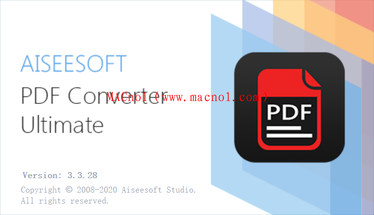 PDF转换软件 Aiseesoft PDF Converter v3.3.28 绿色免费版(免注册码)