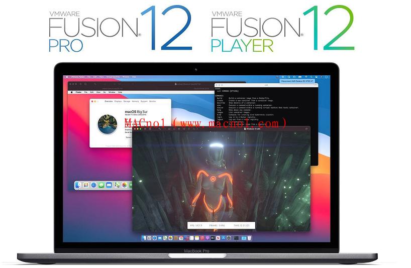苹果虚拟机 VMware Fusion 破解版 for Mac v12.0.0 中文破解版(附注册机)