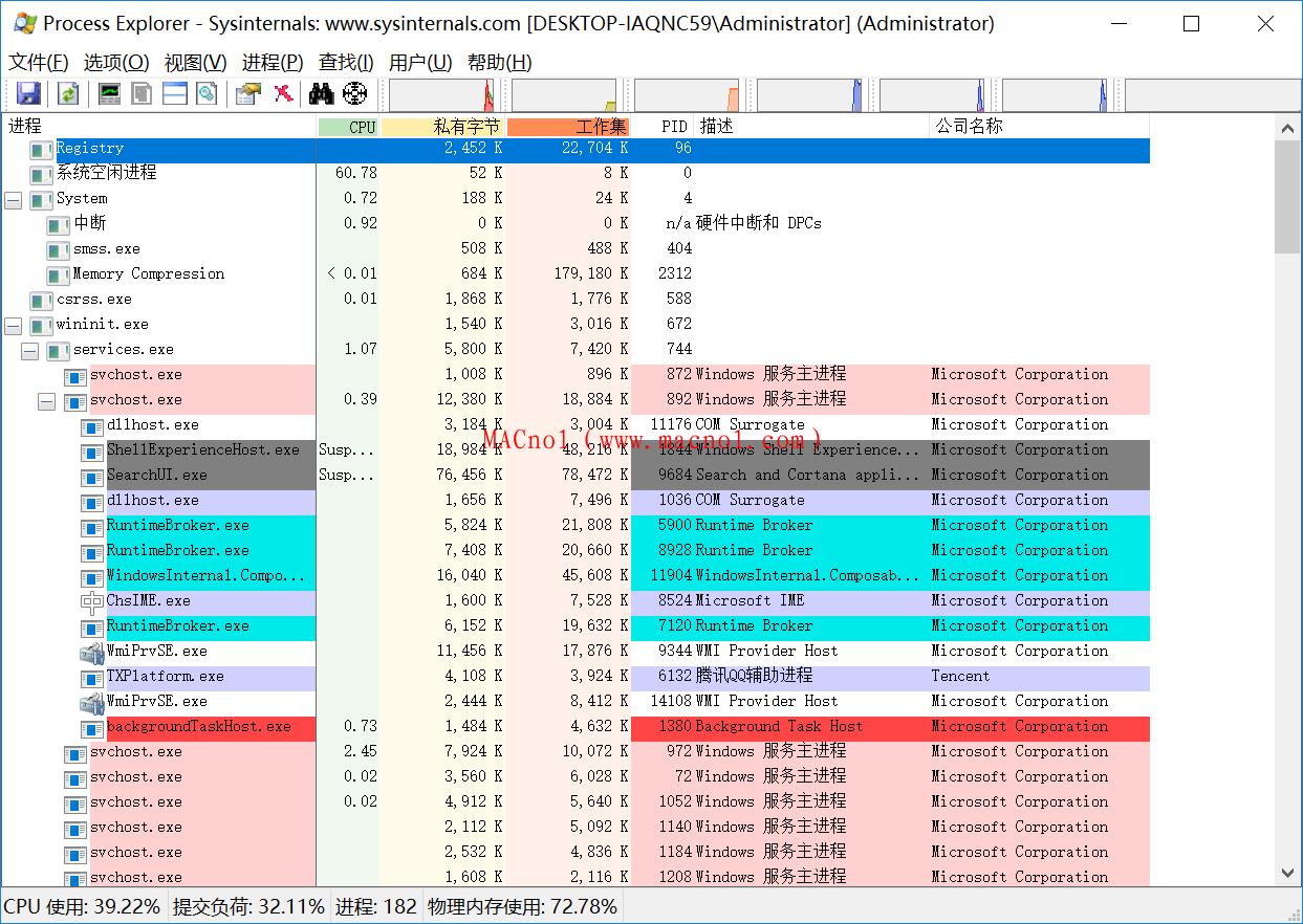Process Explorer(进程管理工具) v16.32.0 绿化版