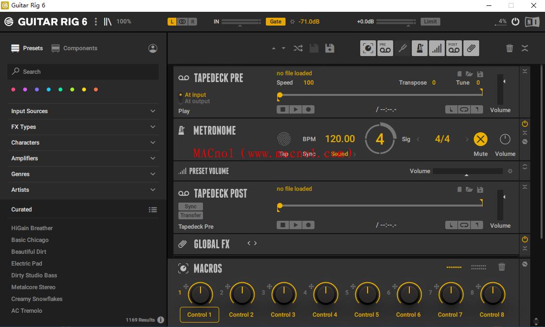 吉他效果模拟器 Guitar Rig v6.1.1 直装破解版(附注册码)