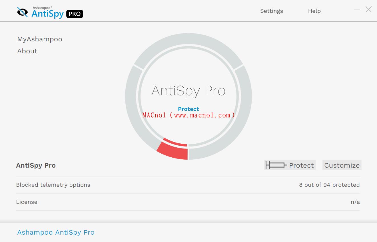 系统设置软件 Ashampoo AntiSpy v1.0.0 破解版(附破解文件)